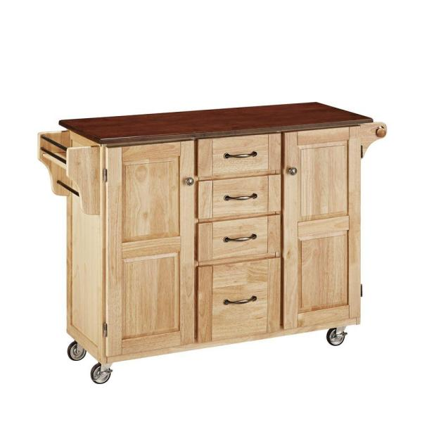 Home Styles Create-a-Cart Natural Kitchen Cart With Towel Bar 9100-1017G