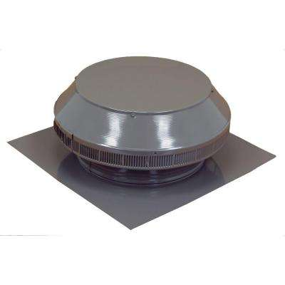 12 in. Dia Aluminum Roof Louver Exhaust Vent in Weatherwood Powder Coat
