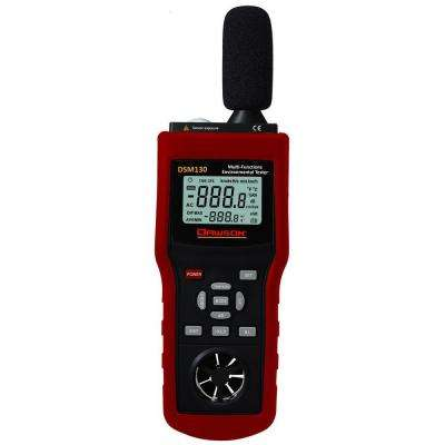 Multi-Functional Environmental Tester Sound/Temperature/Humidity and Wind