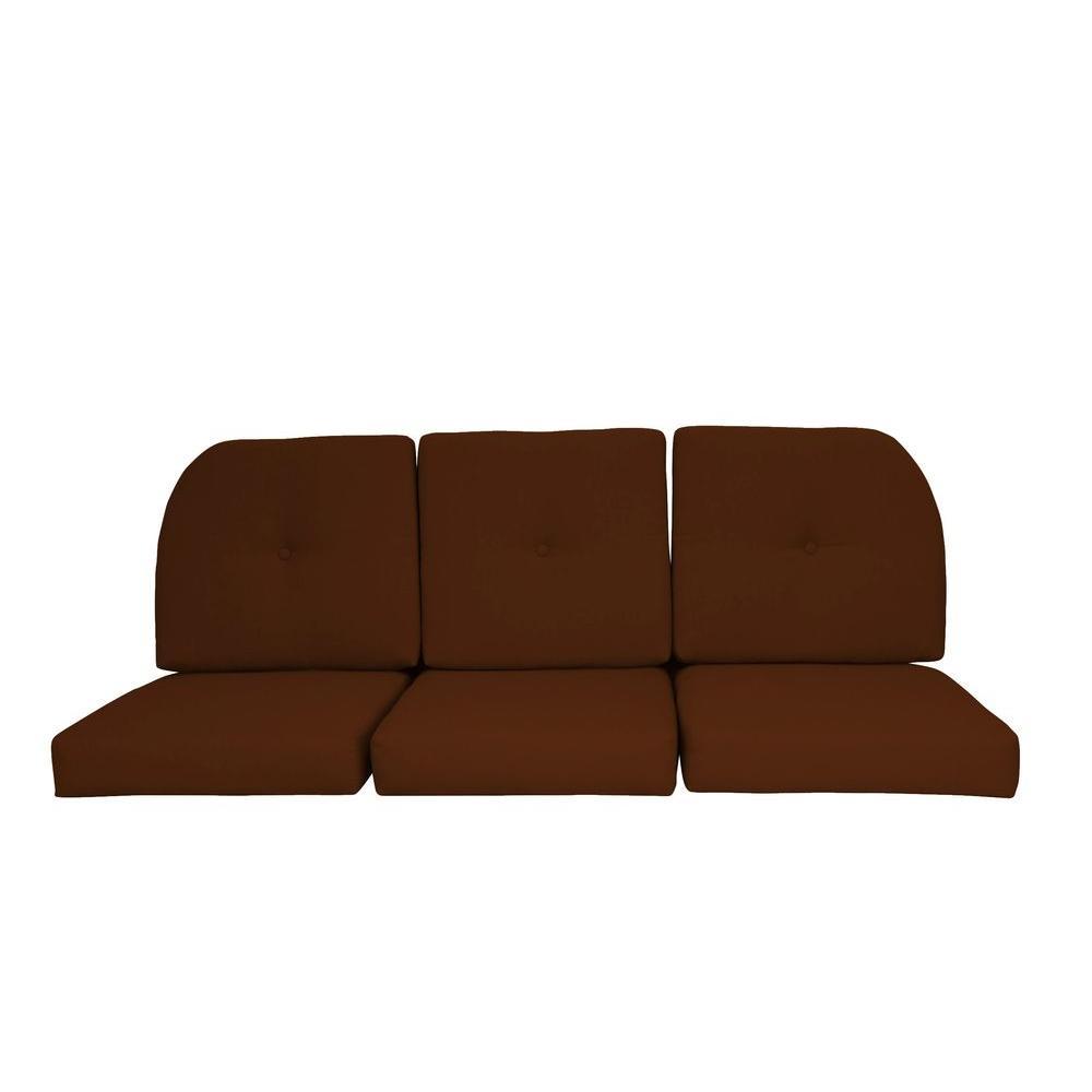 Paradise Cushions Sunbrella Sierra 6-Piece Wicker Outdoor...