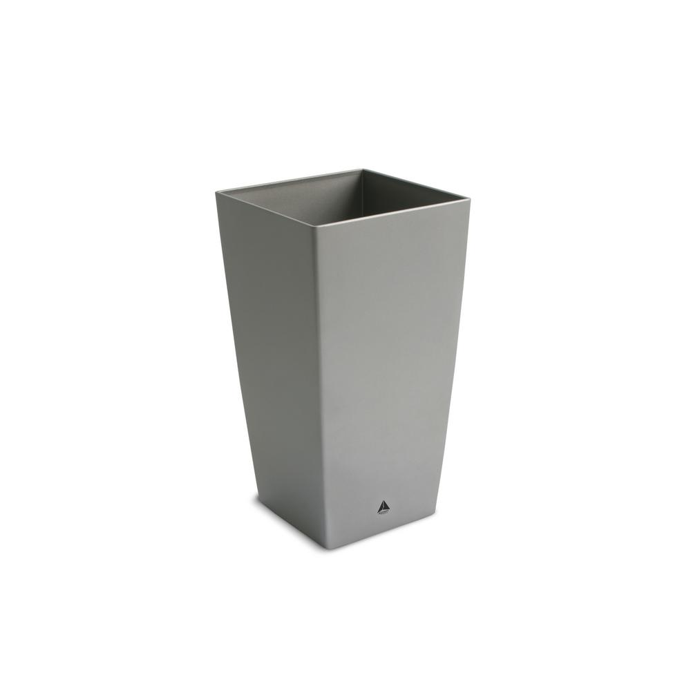 Modena 16 in. Square Granite Plastic Planter