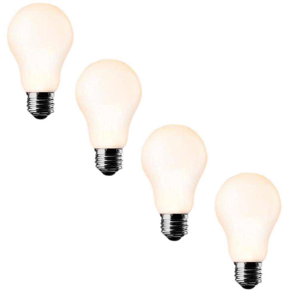 40W Equivalent Soft White A19 LED Light Bulb (4-Pack)