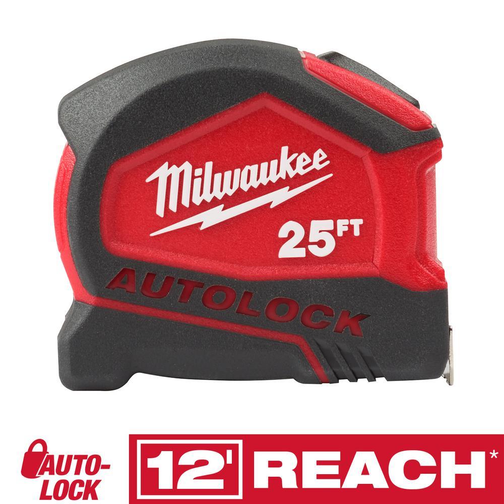 Milwaukee 25 ft. Compact Auto Lock Tape Measure