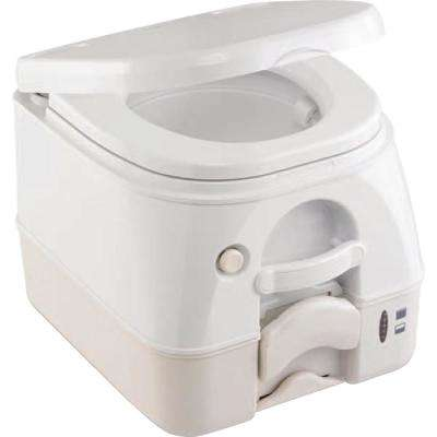 2.5 Gal. Full Size SaniPottie 974 MSD Portable Toilet with Push Button Flush in Tan