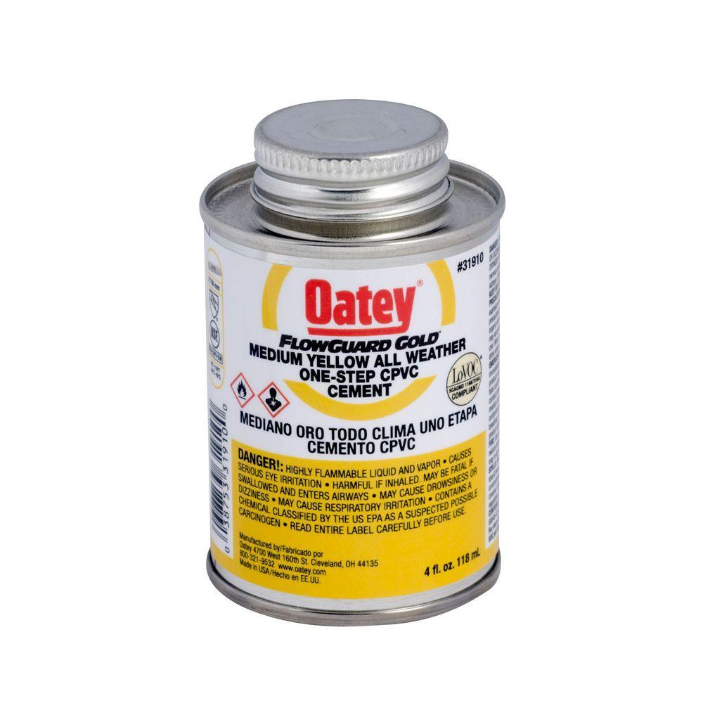 Oatey FlowGuard Gold 4 oz. CPVC Medium Yellow Cement