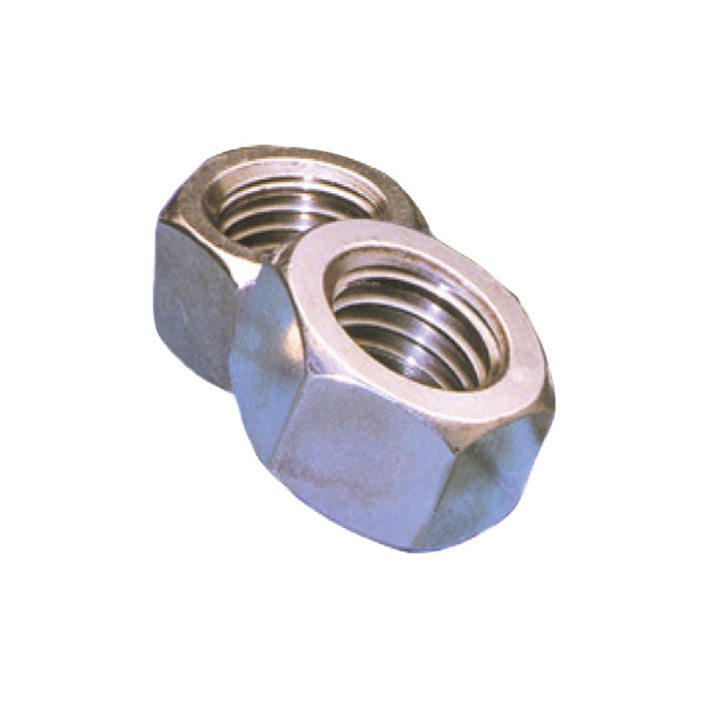 1/4 in. - 20 TPI Zinc-Plated Nylon Locking Hex Nut (100-Pack)