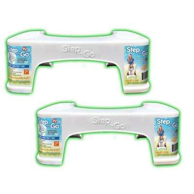 7 in. Squatty Toilet Potty Aid in White (2-Pack)