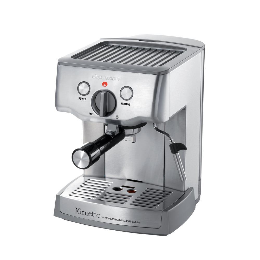 Caf Minuetto Professional Die-Cast Espresso/Cappuccino Maker