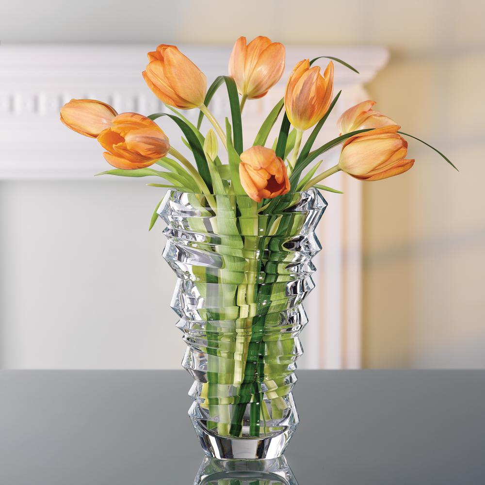 Slice 9 in. Crystal Decorative Vase in Clear