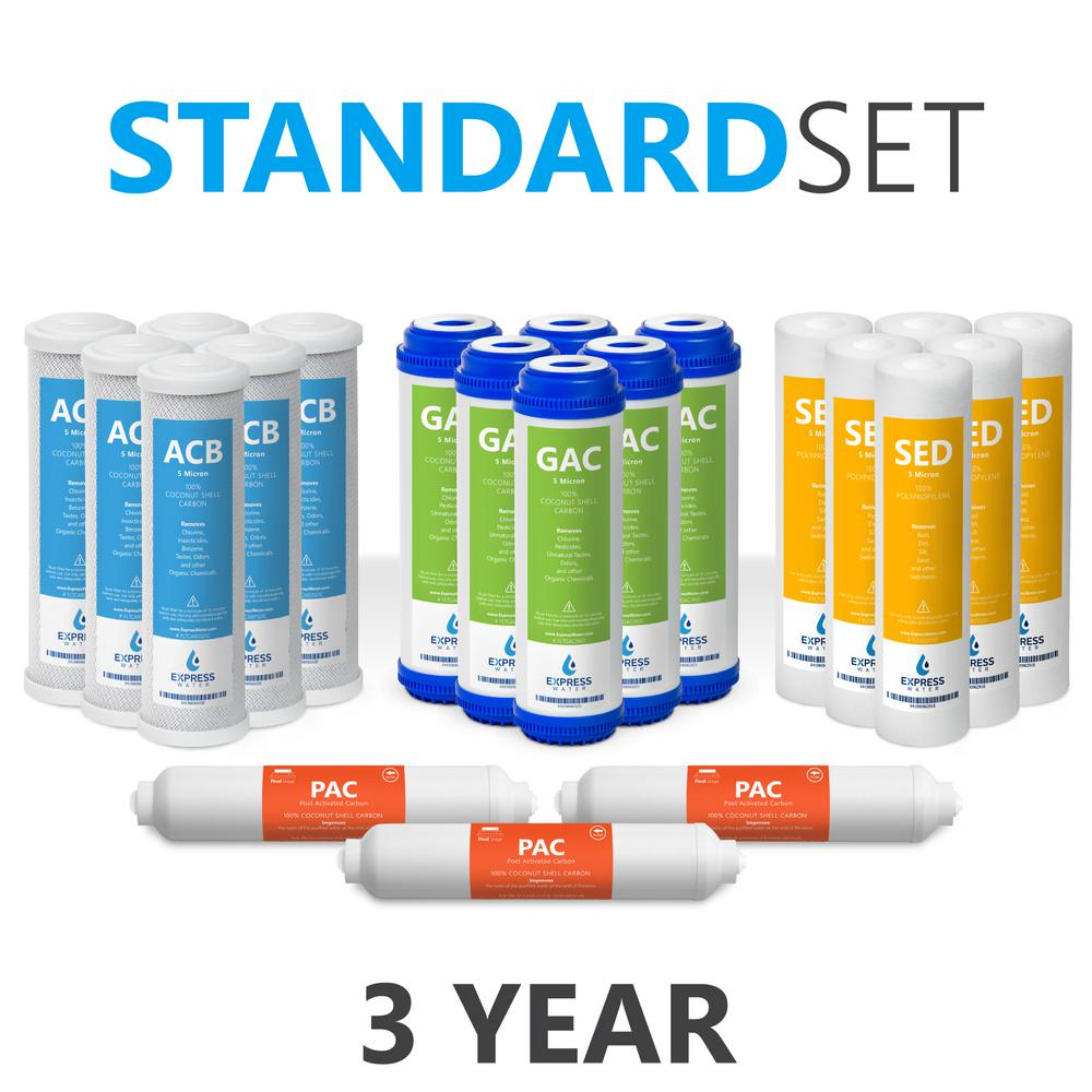 10 in. Reverse Osmosis Replacement Filter Set - 21 Filters with
