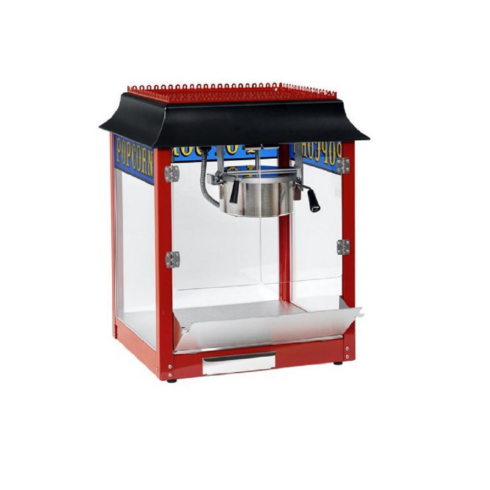 1911 Original 6 oz. Red Stainless Steel Countertop Popcorn Machine