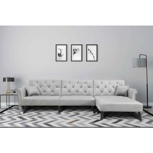 Awesome Harper Bright Designs Grey 2 Piece Modern Vintage Futon Pdpeps Interior Chair Design Pdpepsorg