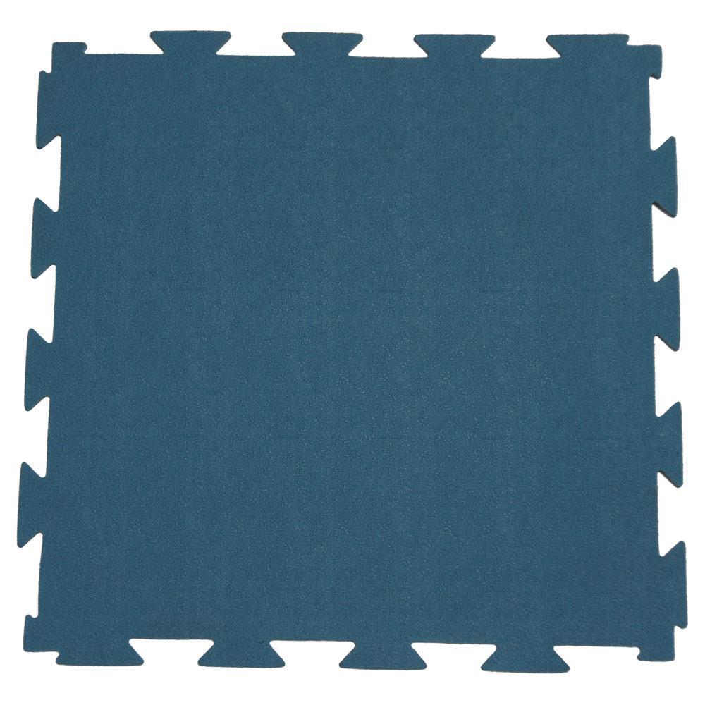 Rubber-Cal Terra-Flex 1/4 in. x 24 in. x 24 in. Blue Interlocking Rubber Mat (5-Pack, 20 sq. ft.)