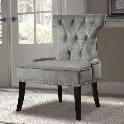 Gray Fabric Side Chair