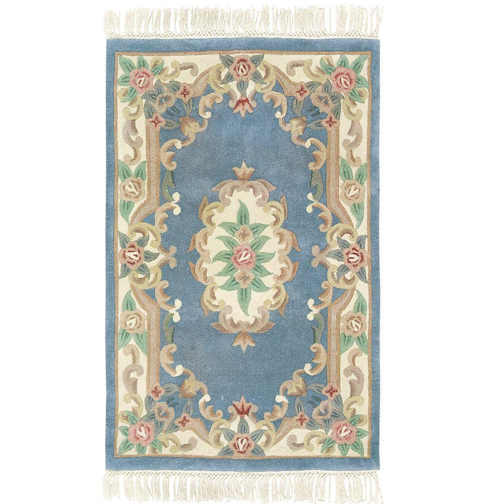 Home Decorators Collection Imperial Light Blue 4 ft. x 6 ft. Area Rug