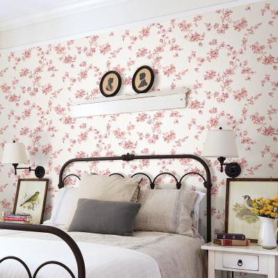 56.4 sq. ft. Cyrus Rose Floral Wallpaper