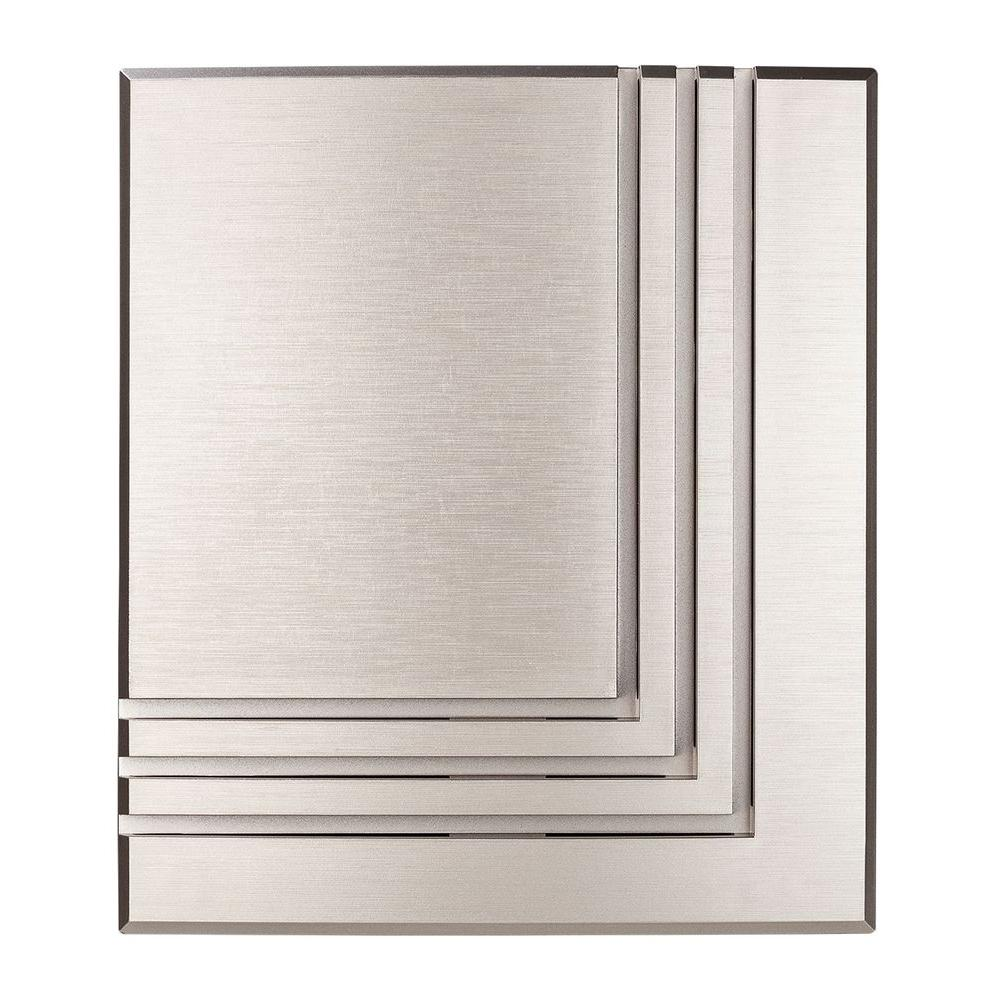 Hampton Bay Wireless Or Wired Door Bell Brushed Nickel Hb 7612 02 Wiring New House For Sound The Home Depot