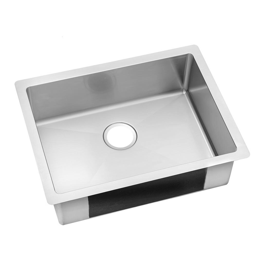 Superior Crosstown Undermount Stainless Steel 24 In. Single Bowl Kitchen Sink