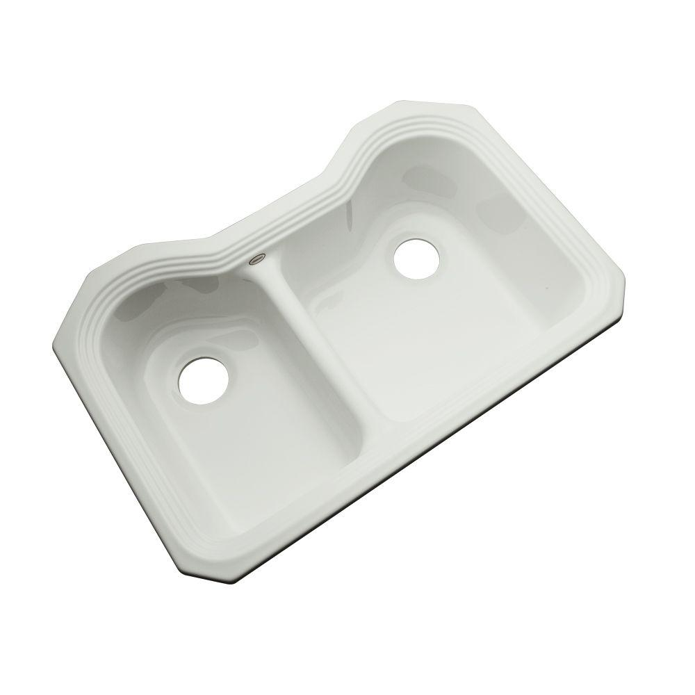 Thermocast Breckenridge Undermount Acrylic 33 in. Double Bowl ... on christmas ice, bar sink ice, freezer ice,