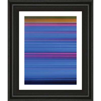 "22 in. x 26 in. ""Abstract Blues"" by Mark Baker Framed Printed Wall Art"