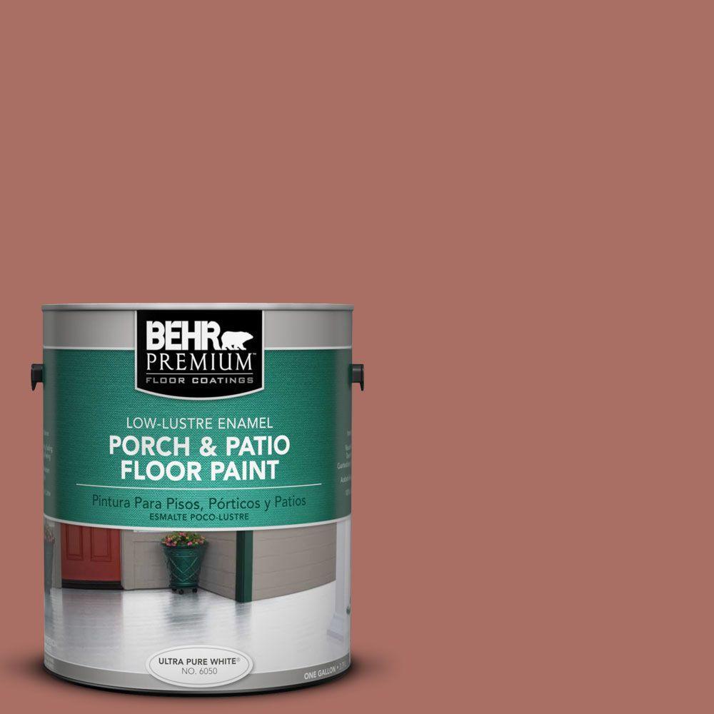 1 gal. #PFC-08 Terra Brick Low-Lustre Interior/Exterior Porch and Patio Floor Paint