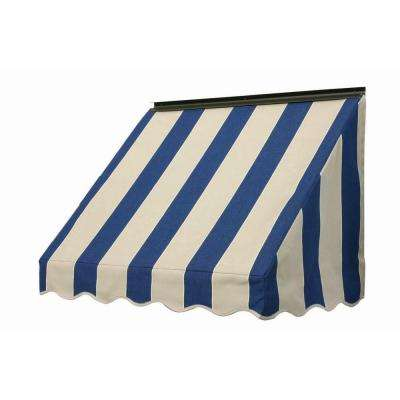 3 ft. 3700 Series Fabric Window Awning (23 in. H x 18 in. D) in Mediterranean/Canvas Block Stripe