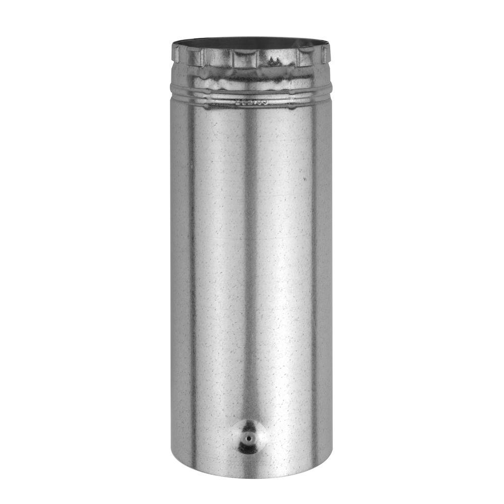 American Metal Products Adjustable Length Round Type B Gas Vent Pipe