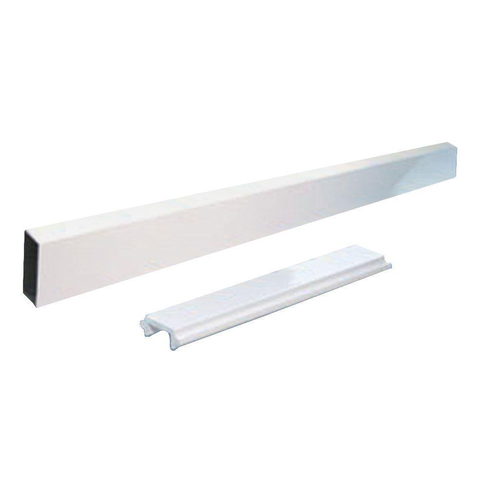 Peak Aluminum Railing 6 ft. Aluminum Wide Picket and Spacer Kit in White