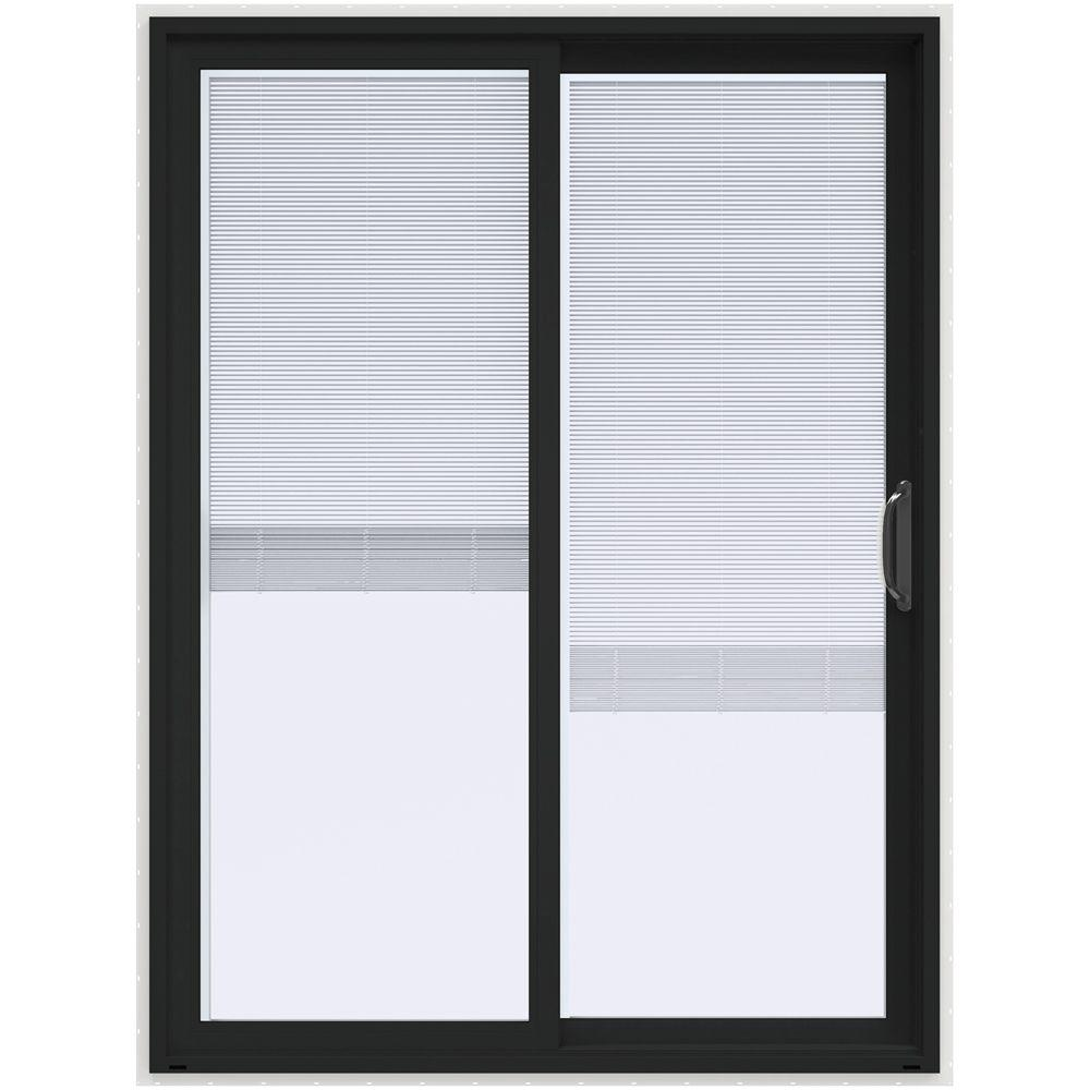 Patio Doors Sliding: JELD-WEN 60 In. X 80 In. V-4500 Contemporary Bronze Paint