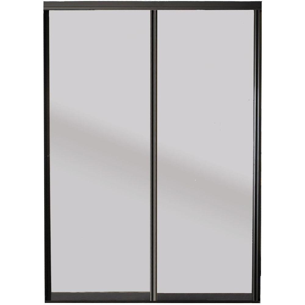 Contractors wardrobe 60 in x 81 in silhouette bronze frame silhouette bronze frame mystique glass aluminum interior planetlyrics Image collections