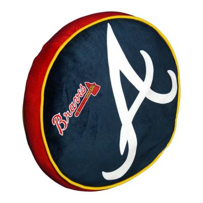15 in. Braves Multi Color Polyester Cloud Standard Pillow