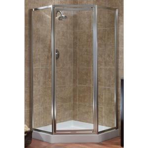 Tiled Shower Enclosures delta 35-7/8 in. x 35-7/8 in. x 71-7/8 in. semi-frameless neo