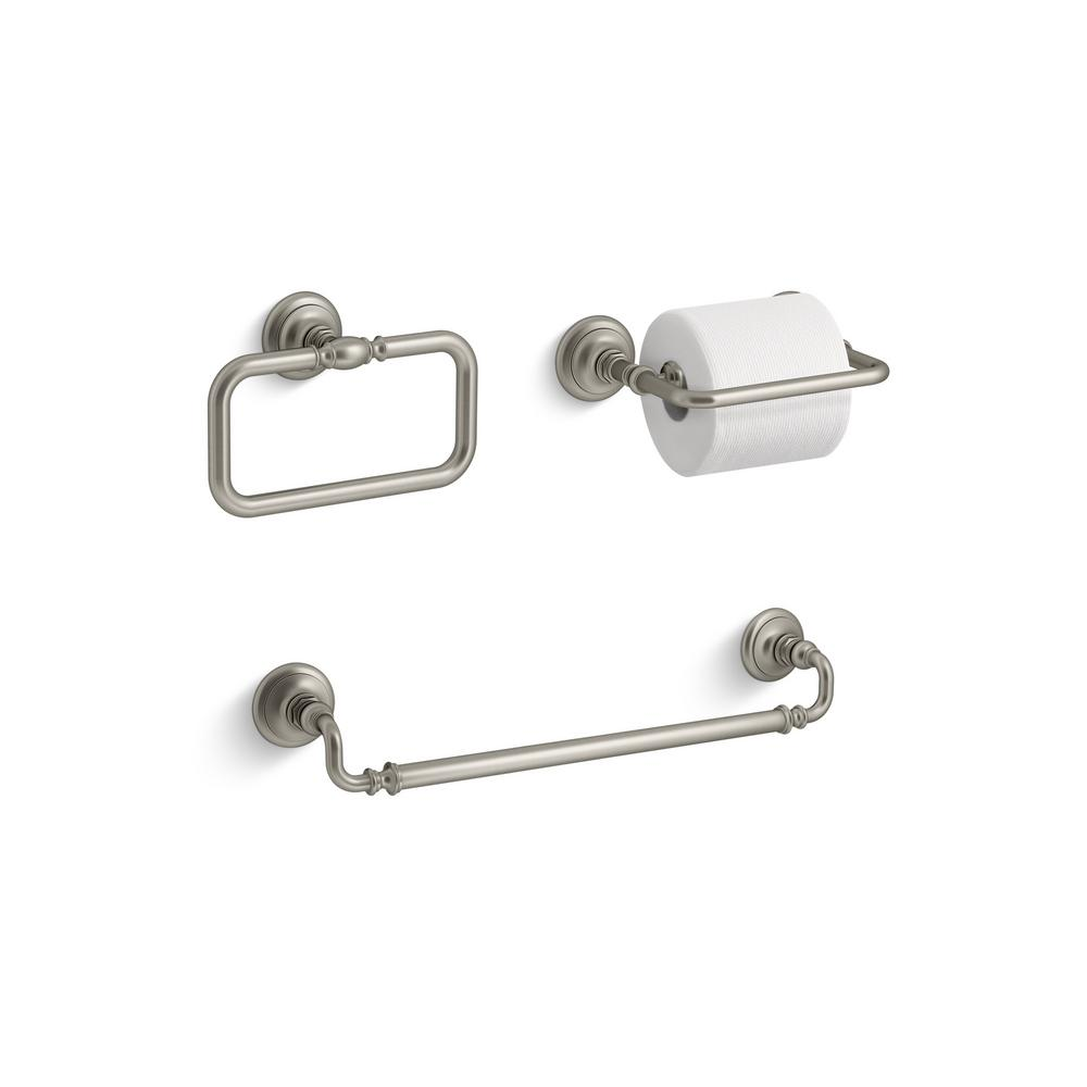 Kohler Bathroom Accessories Brushed Nickel Thedancingparentcom - Kohler bathroom accessories brushed nickel