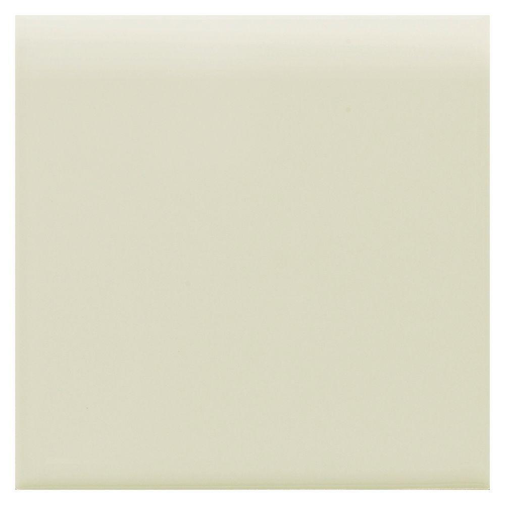 Daltile Semi-Gloss Mint Ice 4-1/4 in. x 4-1/4 in. Ceramic Bullnose Trim Wall Tile-DISCONTINUED