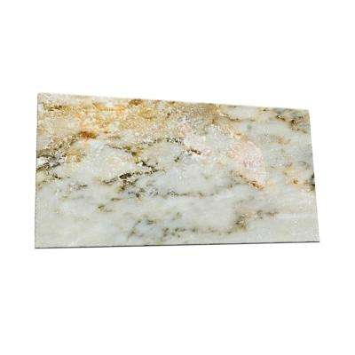 Peel and Stick Natural Marble Shades Glass Wall Tile - 6 in. x 3 in. Tile sample