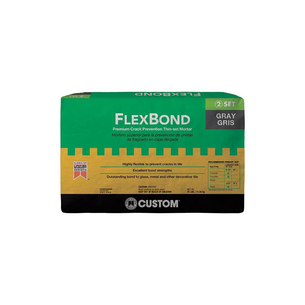 Custom Building Products FlexBond 25 lb. Gray Crack Prevention Mortar