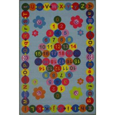 Fun Time Happy Learning Multi Colored 2 ft. x 2 ft. Area Rug