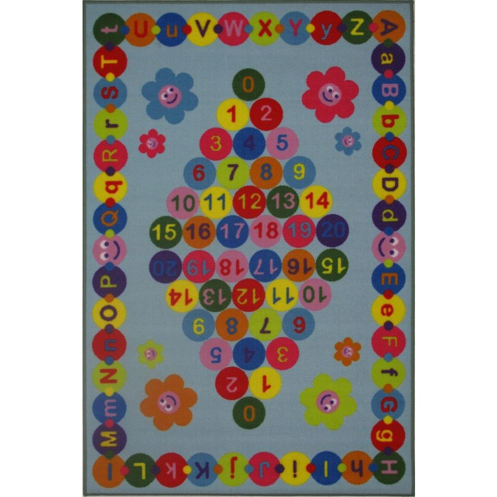 LA Rug Fun Time Happy Learning Multi Colored 51 in. x 78 in. Area Rug-DISCONTINUED