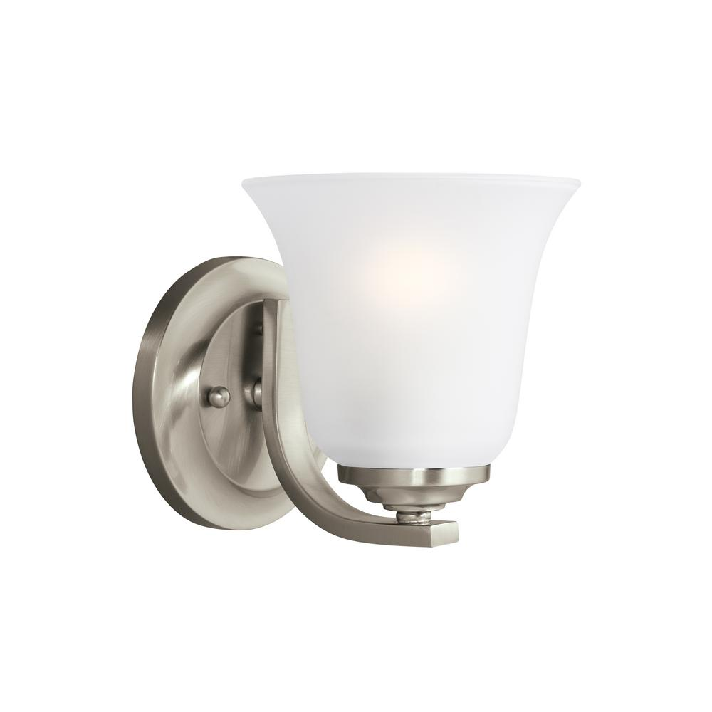 Emmons 1-Light Brushed Nickel Sconce