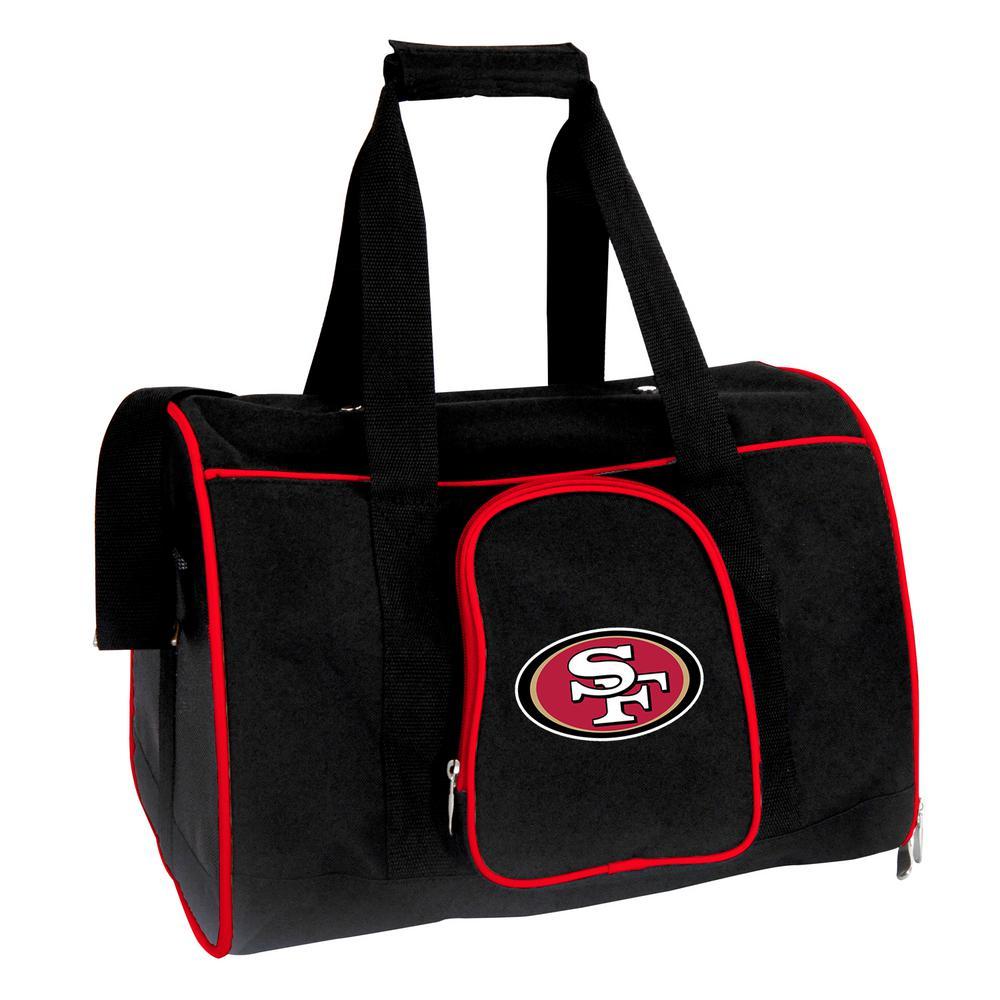 NFL San Francisco 49ers Pet Carrier Premium 16 in. Bag in Red