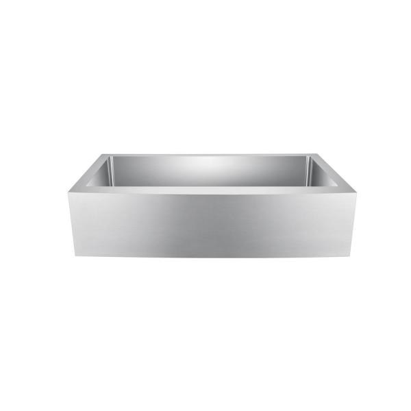Amanda Farmhouse Apron Front Stainless Steel 36 in. Single Bowl Kitchen Sink