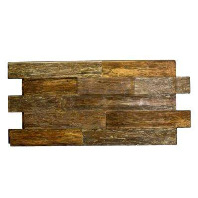 Time Weathered Faux Rustic Panel 1-1/4 in. x 48 in. x 23 in. Steakhouse Polyurethane Interlocking Panel