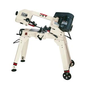 JET 1/2 HP 5 inch x 6 inch Metalworking Horizontal and Vertical Band Saw with Open Stand,... by JET
