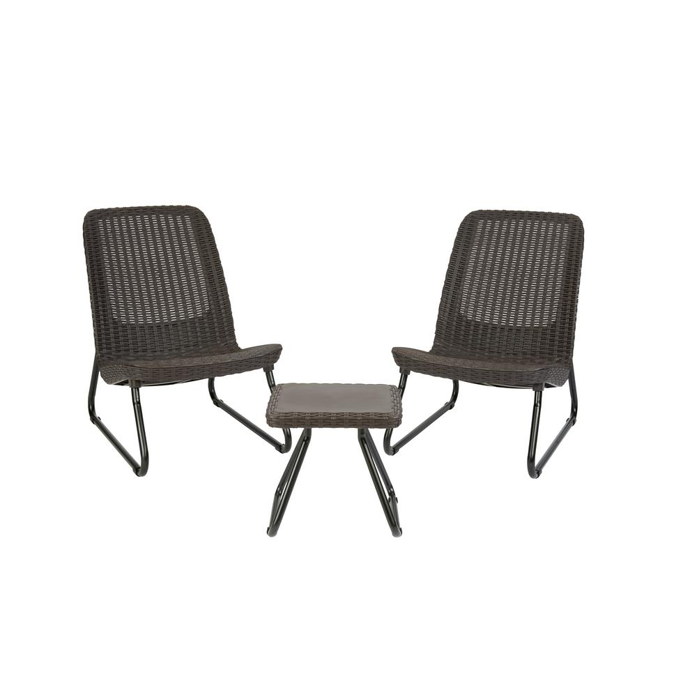 Keter Rio Brown 3-Piece All Weather Patio Seating Set