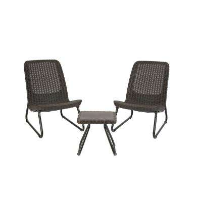 Superb Rio Brown 3 Piece All Weather Patio Seating Set