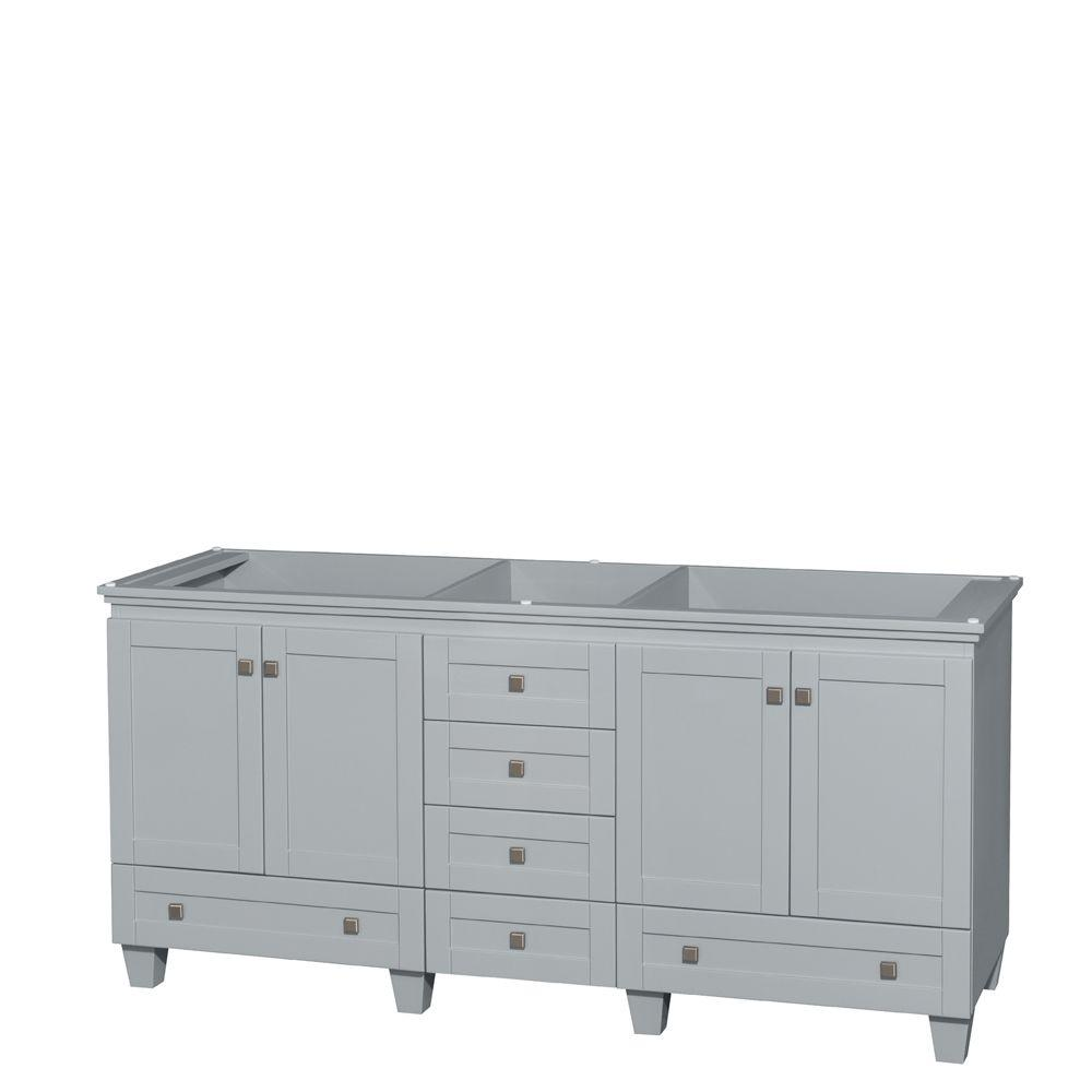 Bon Wyndham Collection Acclaim 72 In. Vanity Cabinet In Oyster Gray