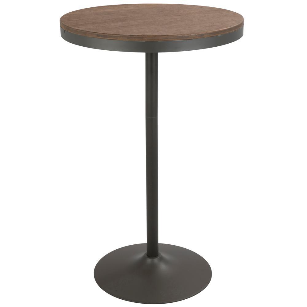 Lumisource dakota grey and brown adjustable height bar table bt dak lumisource dakota grey and brown adjustable height bar table watchthetrailerfo