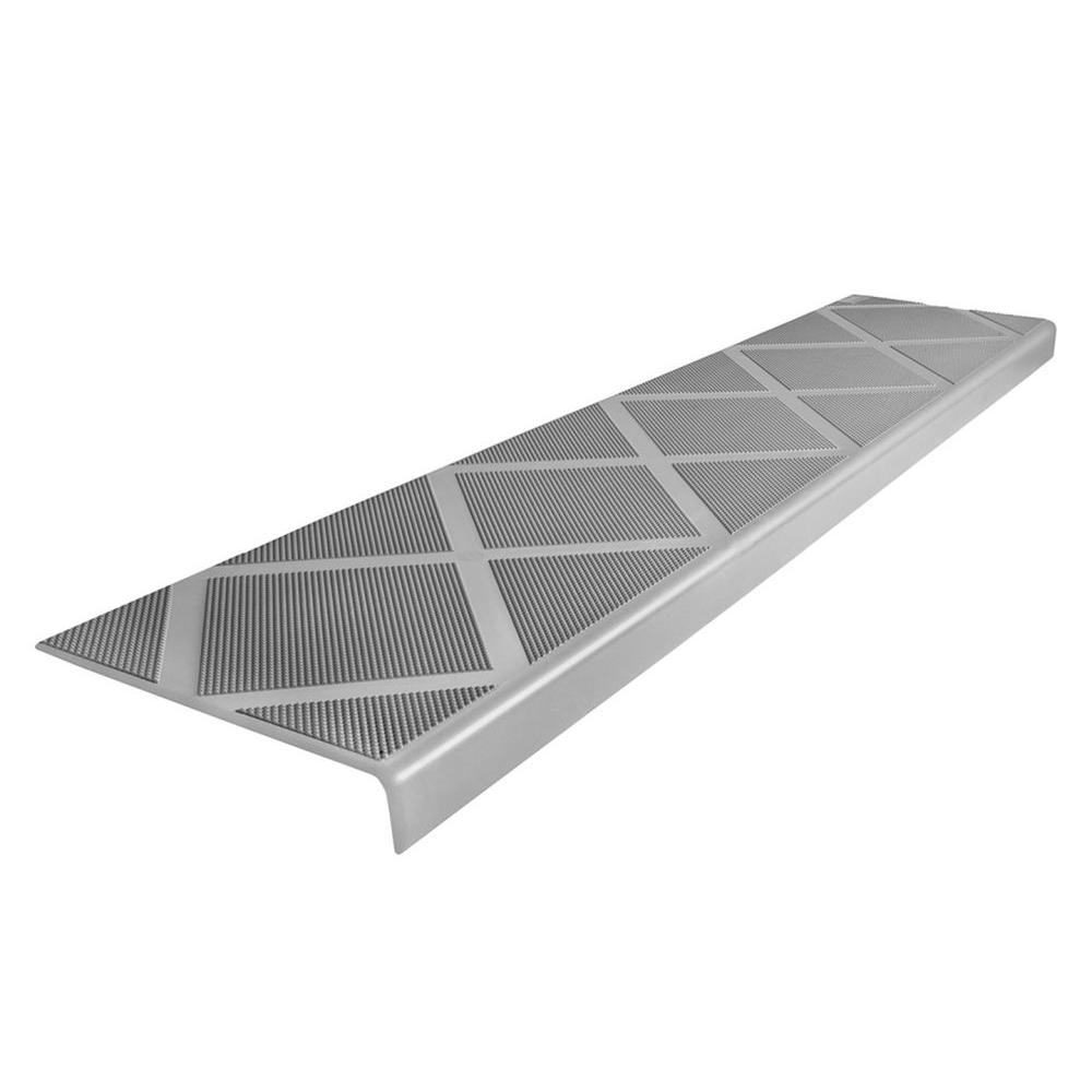 composigrip composite antislip stair tread 48 in grey step cover
