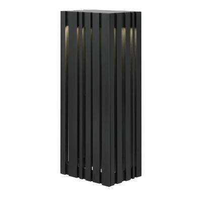 Uptown 1-Light Black Outdoor Large LED Wall Light