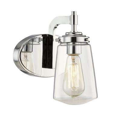 Linville 1-Light Polished Chrome Wall Sconce